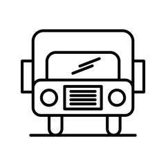 bus line black icon