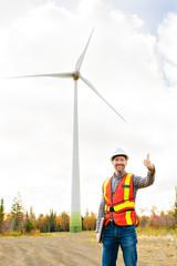 A Technician Engineer in Wind Turbine Power Generator Station
