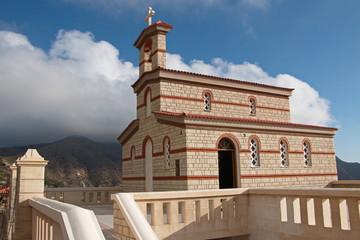 Church in Spoa on Karpathos in Greece