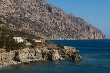 Coastline at Vananda Bay near Diafani on Karpathos in Greece