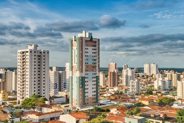 Panoramic view of the city of Bauru. Interior of the State of São Paulo. Brazil