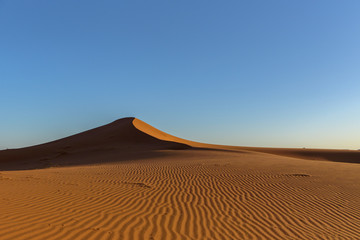 Dunes in the desert of Sahara, Morocco.