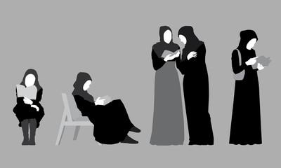 Hijab Silhouettes
