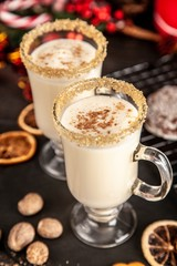 Traditional eggnog for Christmas