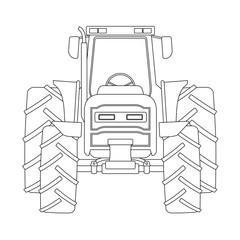 Creative tractor illustration