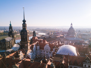 Blick über die innere Altstadt in Dresden