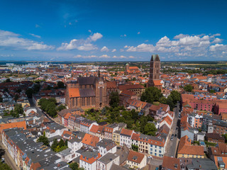 Blick über Altstadt von Wismar