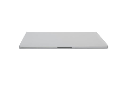 Style compact gray laptop isolated with clipping path over white