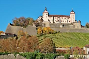 Würzburg, Festung Marienberg, von Osten