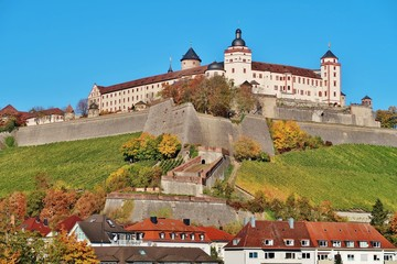 Würzburg, Festung Marienberg, Herbst