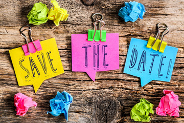 bulle Post-it : Save the date