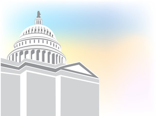 Capitol building vector icon background