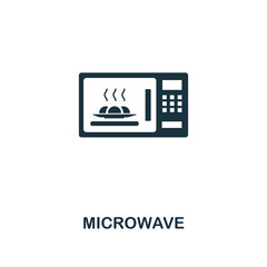 Microwave icon. Premium style design from household icon collection. UI and UX. Pixel perfect microwave icon. For web design, apps, software, print usage.