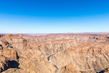 Fish River Canyon, world's second largest canyon, Hobas, South Namibia.