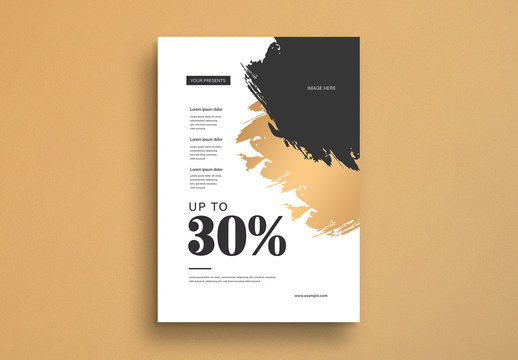 Abstract Sale Flyer Layout