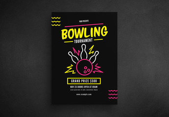 Bowling Tournament Flyer Layout