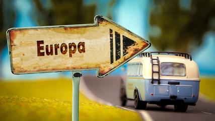 Schild 348 - Europa