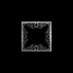 frame metallic logo