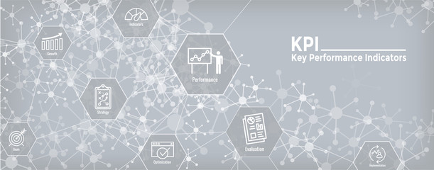 KPI - Key Performance Indicators Web Header Banner and Icon set