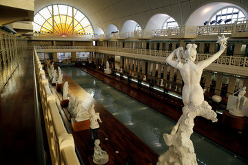 General view of the art gallery La Piscine de Roubaix, is seen during a press visit two days before the reopening of the museum after an 18-month expansion and renovation program, in Roubaix