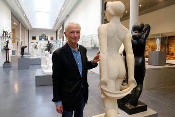 Jean Paul Philippon, the architect of the art gallery La Piscine de Roubaix, poses during a press visit two days before the reopening of the museum after an 18-month expansion and renovation program, in Roubaix