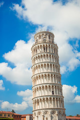 Tourists visiting the leaning tower of Pisa , Italy