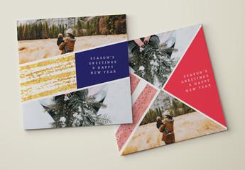 Modern Grid Greeting Cards Set