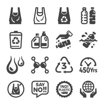 plastic icon set