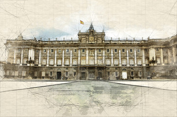 Spanish Royal Palace sketch