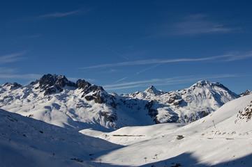 Photo sur Plexiglas Bleu nuit Alpes France paysage montagne hiver neige