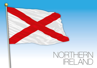 Northern Ireland flag, United Kingdom, vector illustration