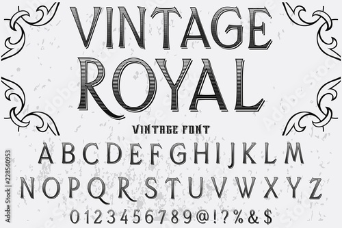Vintage Font handcrafted vector Font Alphabet Script Typeface Label
