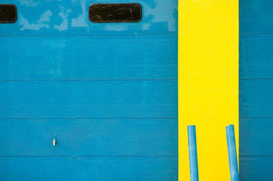 Michigan Blue and Yellow Garage
