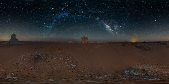 Elephant and Milky Way, Al Farafrah, Egypt