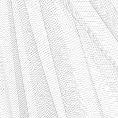 Abstract gray net. Monochrome squiggle thin lines, curves. Vector striped background. Line art pattern, textile, network, mesh textured effect. EPS10 illustration