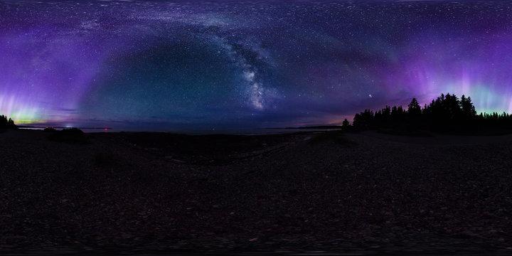 Aurora To Milky Way, Southwest Harbor, Maine, United States