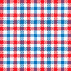 Blue red tartan pattern