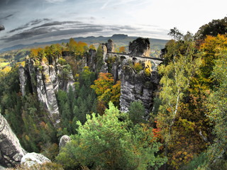 Elbsandsteingebirge Bastei im Herbst