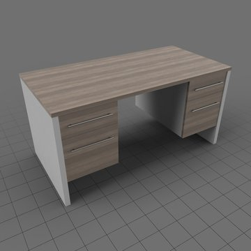 Old office desk