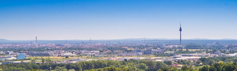 Panorama von Nürnberg in Franken