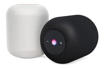 Black and white smart speakers, 3D rendering