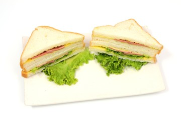 sandwich and vegetable slice cheese