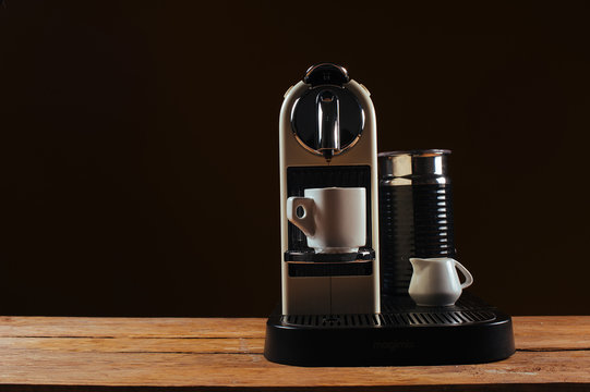 A capsule coffee / espresso machine