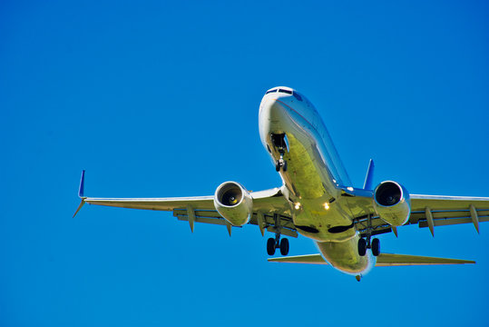 Boeing 737 MAX - Aviation Industry - Larger Civilian Jet Aircraft Take Off - Foreign Travel and Tourism -  - Deep Blue Sky - Fine Detail - Boeing 737