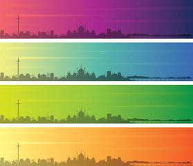 Brighton Multiple Color Gradient Skyline Banner