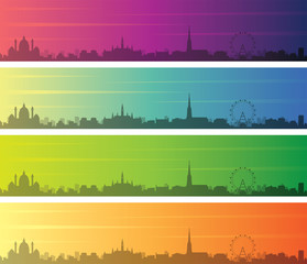 Vienna Multiple Color Gradient Skyline Banner