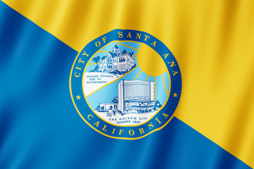 Flag of Santa Ana city, California (US)