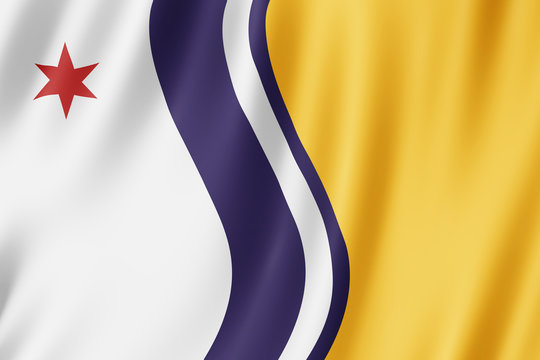 Flag of South Bend city, Indiana (US)