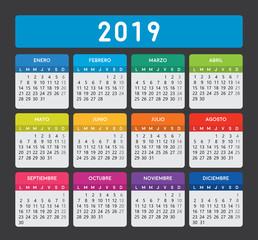spanish calendar 2019.