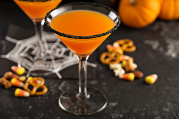 Halloween pumpkin martini